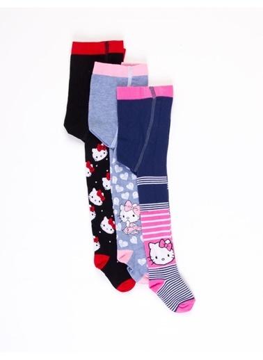 Hello Kitty Çocuk 3'Lü Külotlu Çorap 17083 Pembe